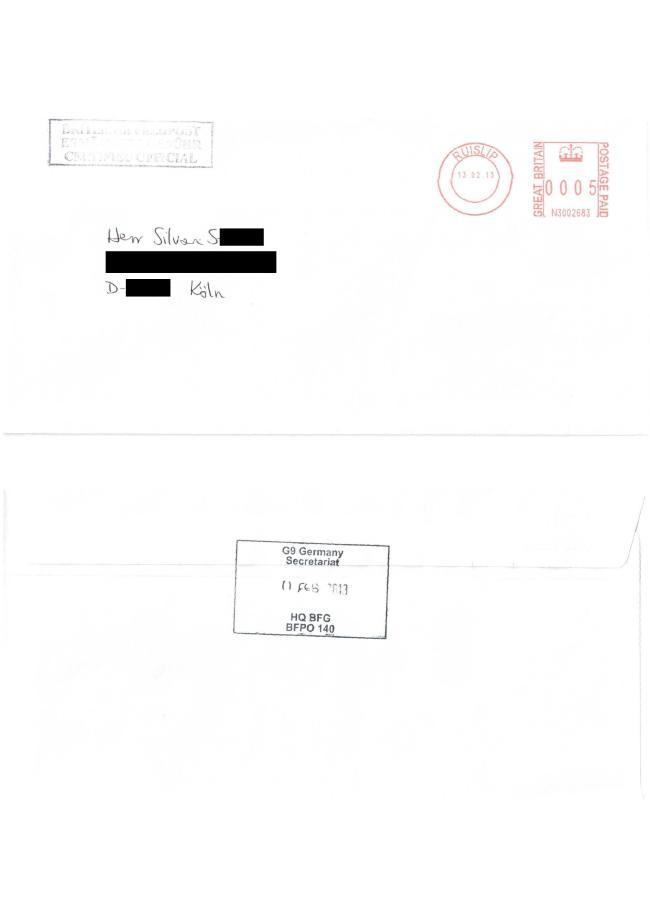 Headquarters British Forces - Strafanzeige gegen Kölner Justiz-3