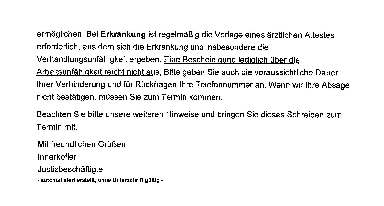 wegen Meinungsstraftaten am 06.05.2014 geplant –