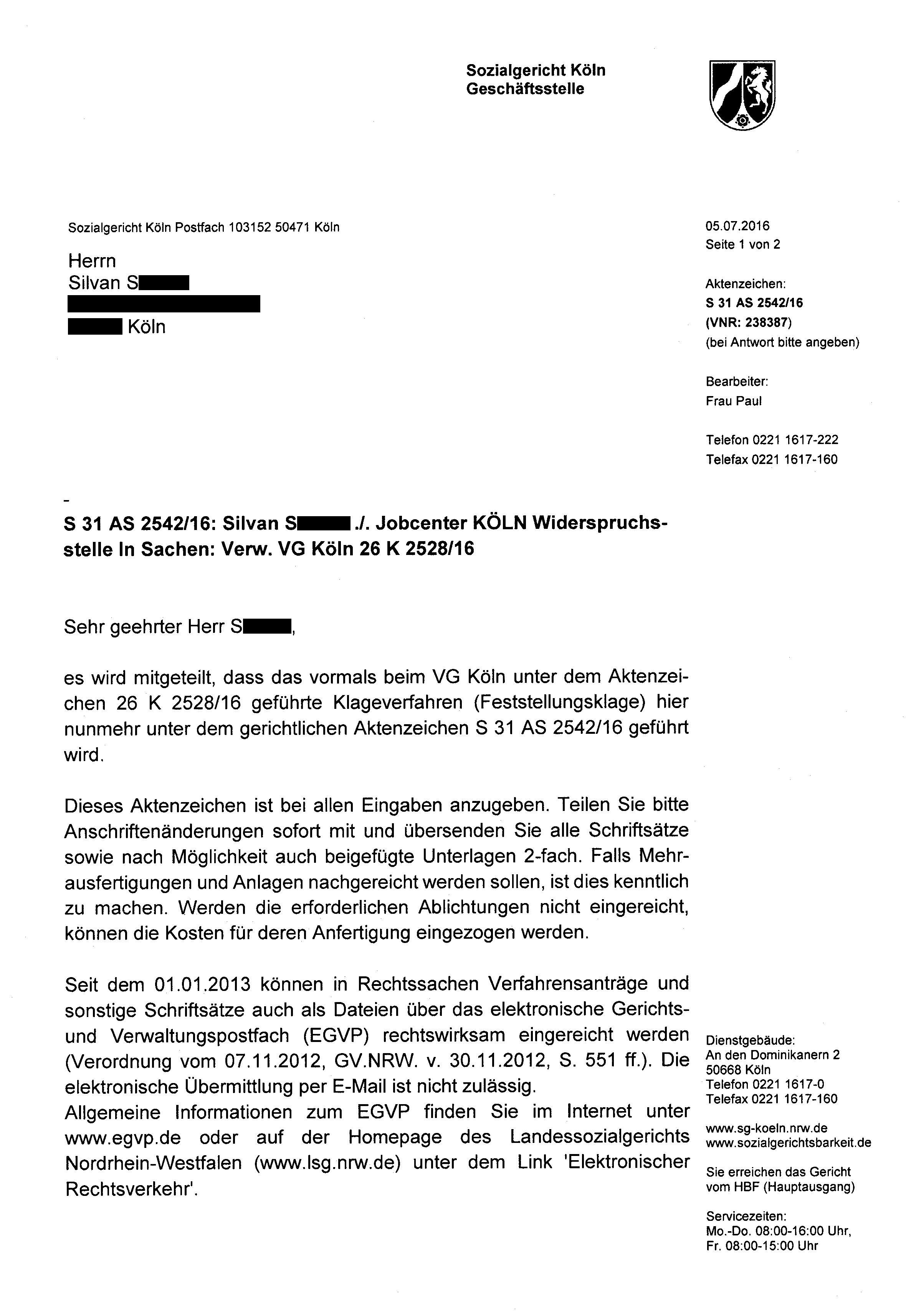 Briefe Mit Anlagen : Verwaltungsgericht köln brd nazi justiz von dj silvan
