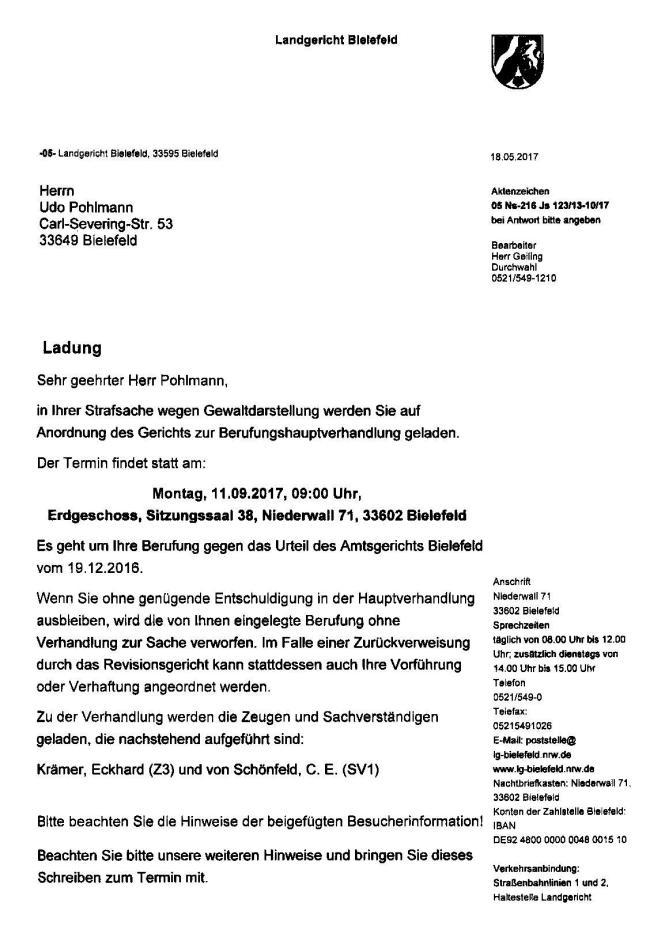 LG-Bielefeld Ladung