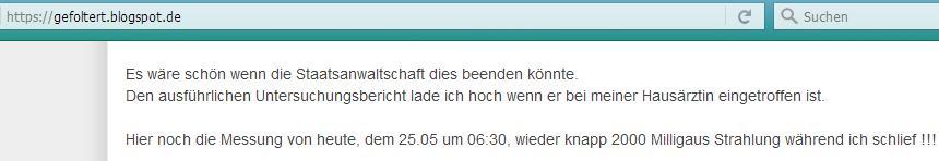 Artikel auf gefoltert.blogspot.de