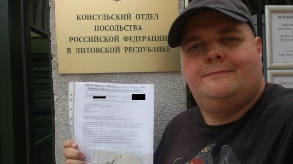 DJ Silvan bei der Russischen Botschaft in Vilnius