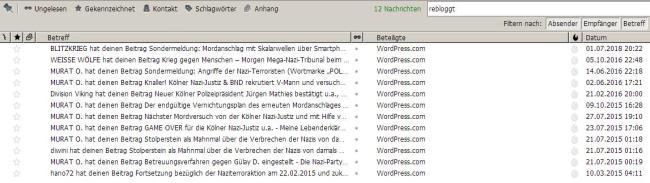 E-Mail Auflistung