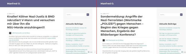 2 Fakes von Manfred O. als Murat O.
