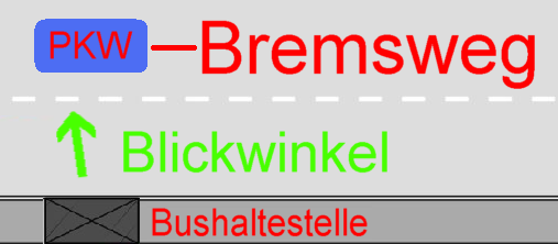 Skizze - Bushaltestelle