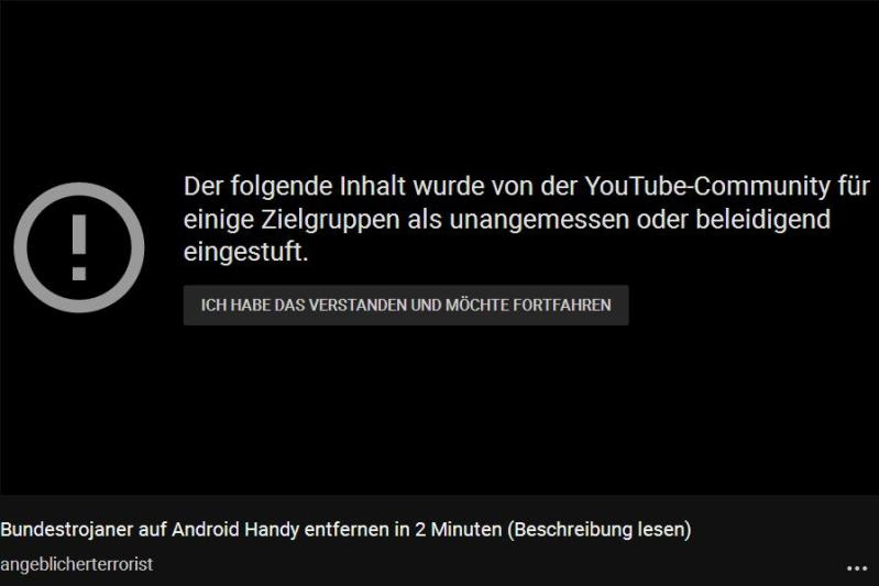 Screenshot-YouTube zensiertes Video über VPN-Tunnel