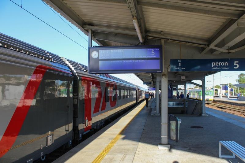 Bahnhof Warschau - Bahnsteig