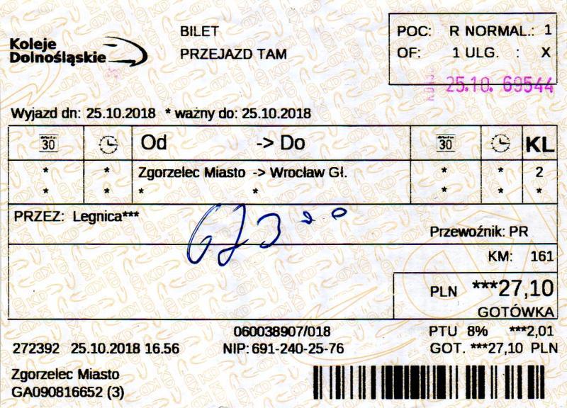 Fahrkarte nach Breslau