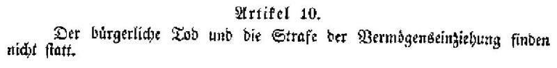 Preußische Verfassung 1850 Artikel 10