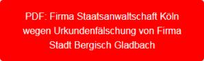 PDF-Firma Staatsanwaltschaft Köln - Einstellung Strafanzeige Urkundenfälschung