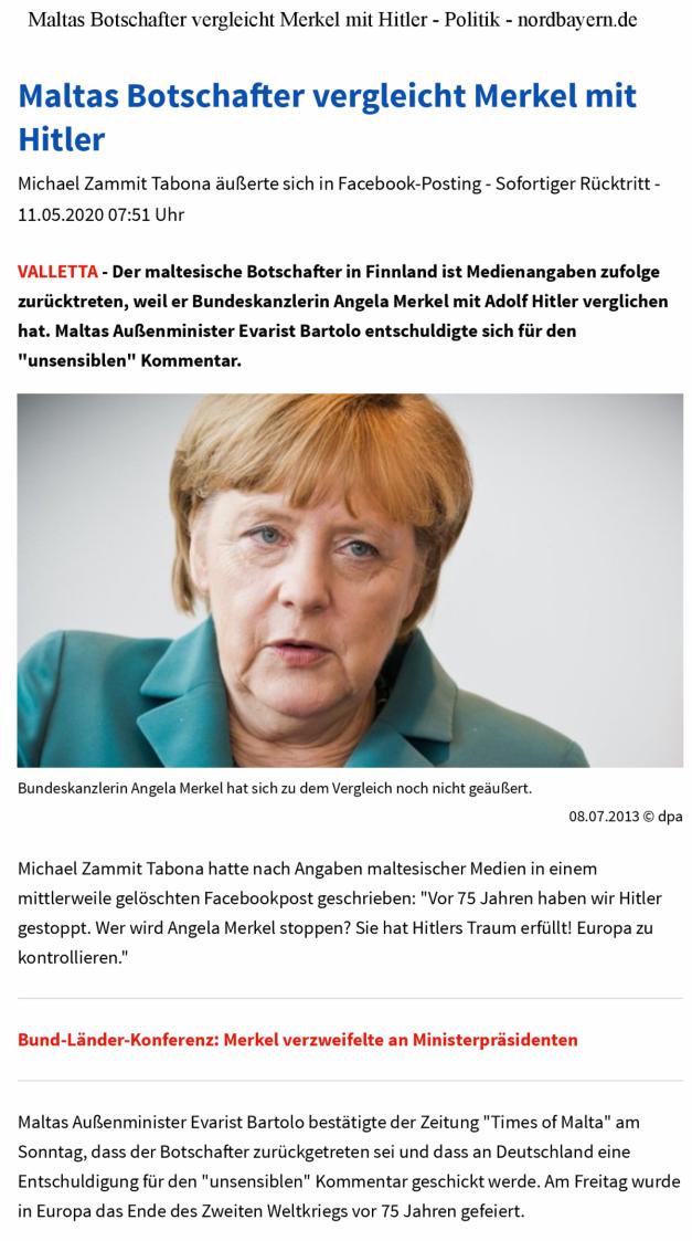 Artikel - Merkel Hitler